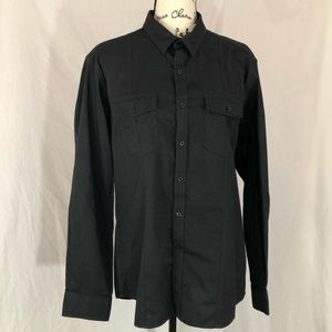 Marc Anthony black l/s slim fit large shirt